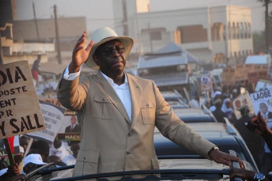 Le Président Macky Sall lors de la campagne électorale de février 2019 à Saint-Louis