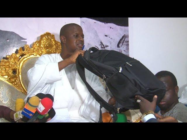 Pour sa première visite à Touba en novembre dernier, le ministre de l'Intérieur Antoine Félix Diome livrait un sac d'argent à l'origine non déterminée au profit de commerçants sinistrés