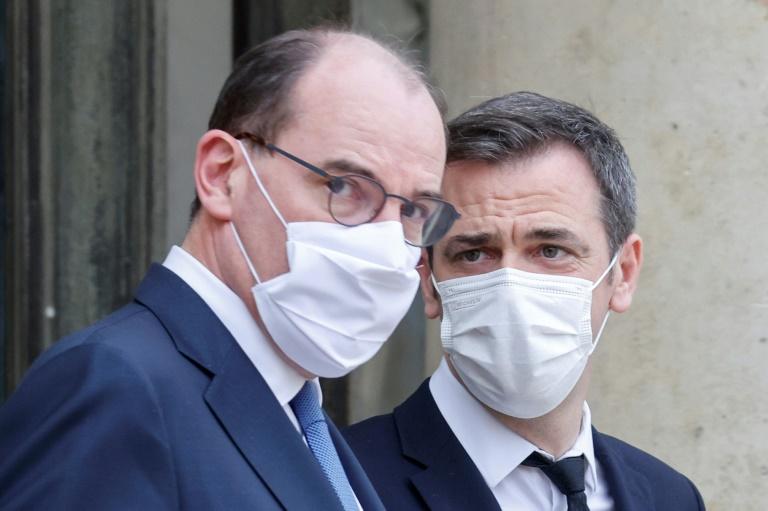 Le PM Jean Castex et Olivier Véran, le ministre de la Santé