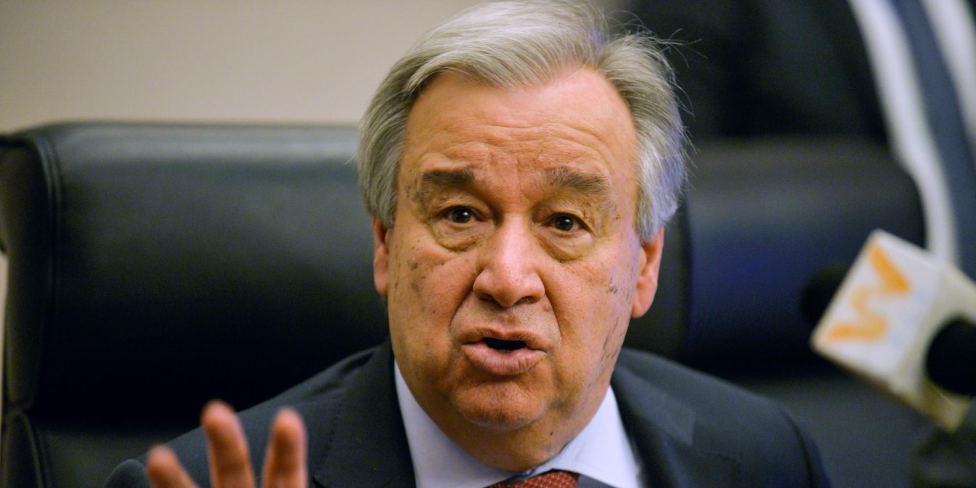 Antonio Guterres, SG des Nations Unies