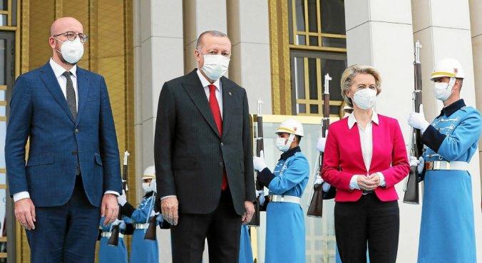 Turquie : Les dirigeants de l'UE expriment leurs inquiétudes sur les droits humains au président Erdogan