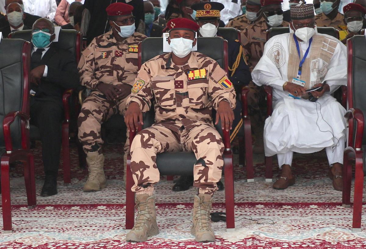 Le chef du Comité militaire de transition (CMT), Mahamat Idriss Deby (Photo AFP)