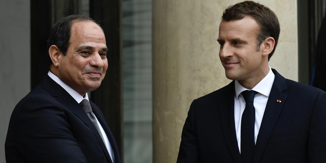 Le maréchal Abdelafattah Al-Sissi et le président Emmanuel Macron en décembre 2020 à l'Elysée