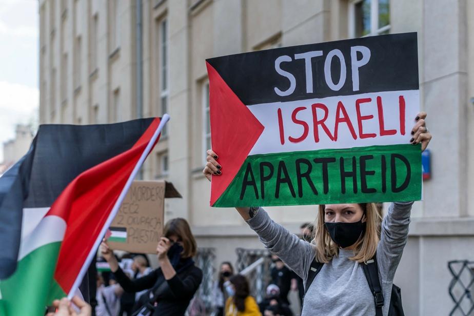 Manifestation anti-israélienne à Varsovie (Pologne)