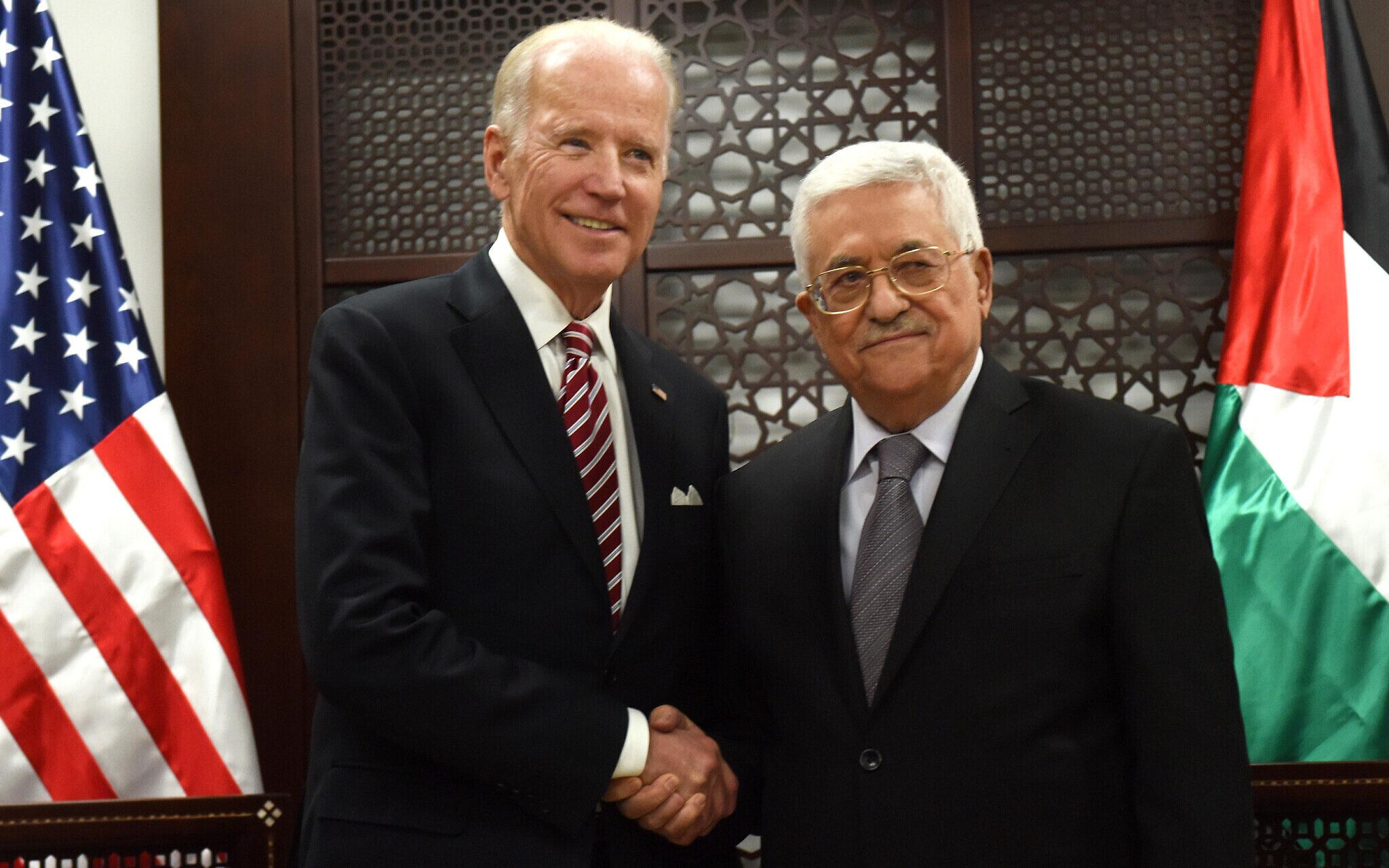 Joe Biden et Mahmoud Abass (photo d'archives)