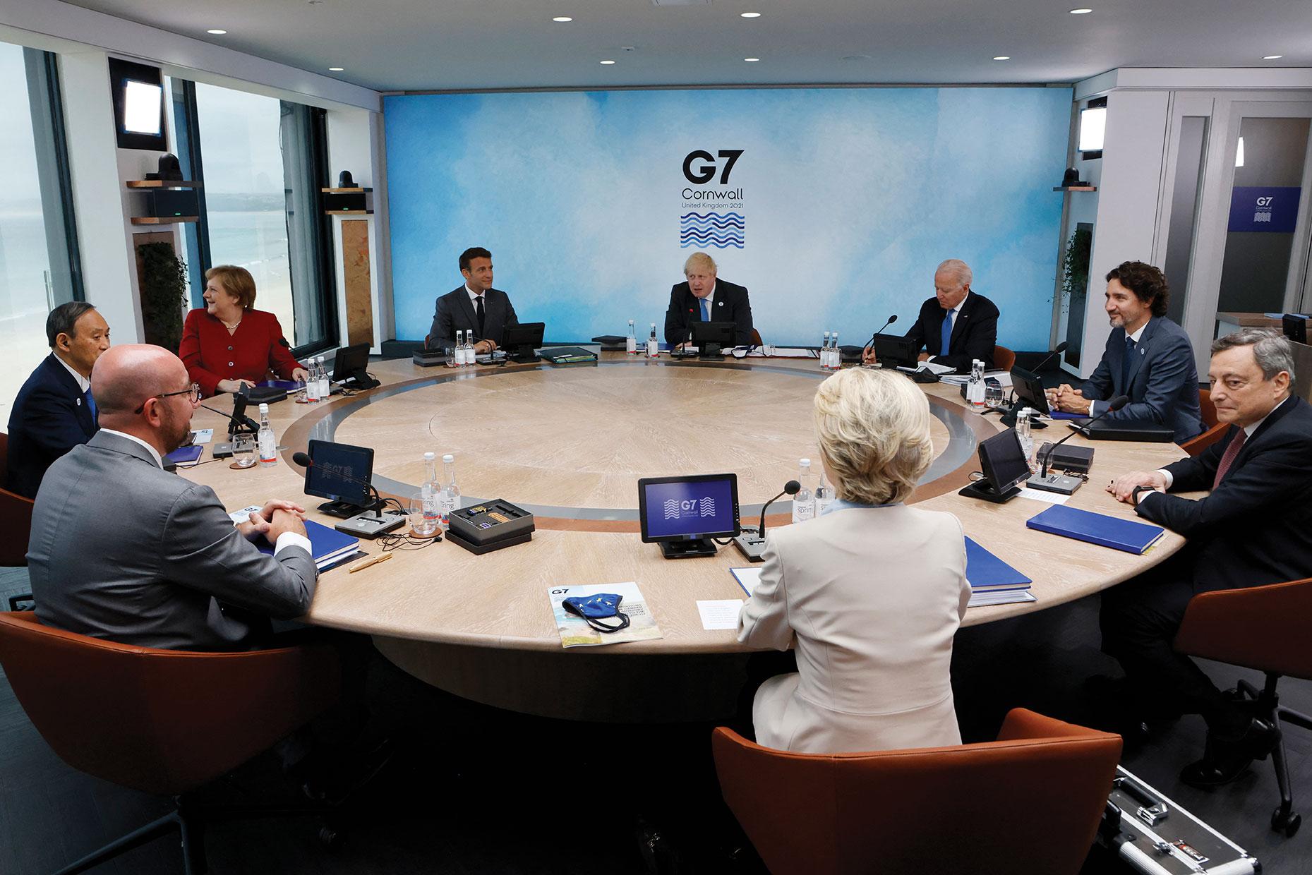 Carbis Bay: Vaccins et climat au menu de la première journée du G7
