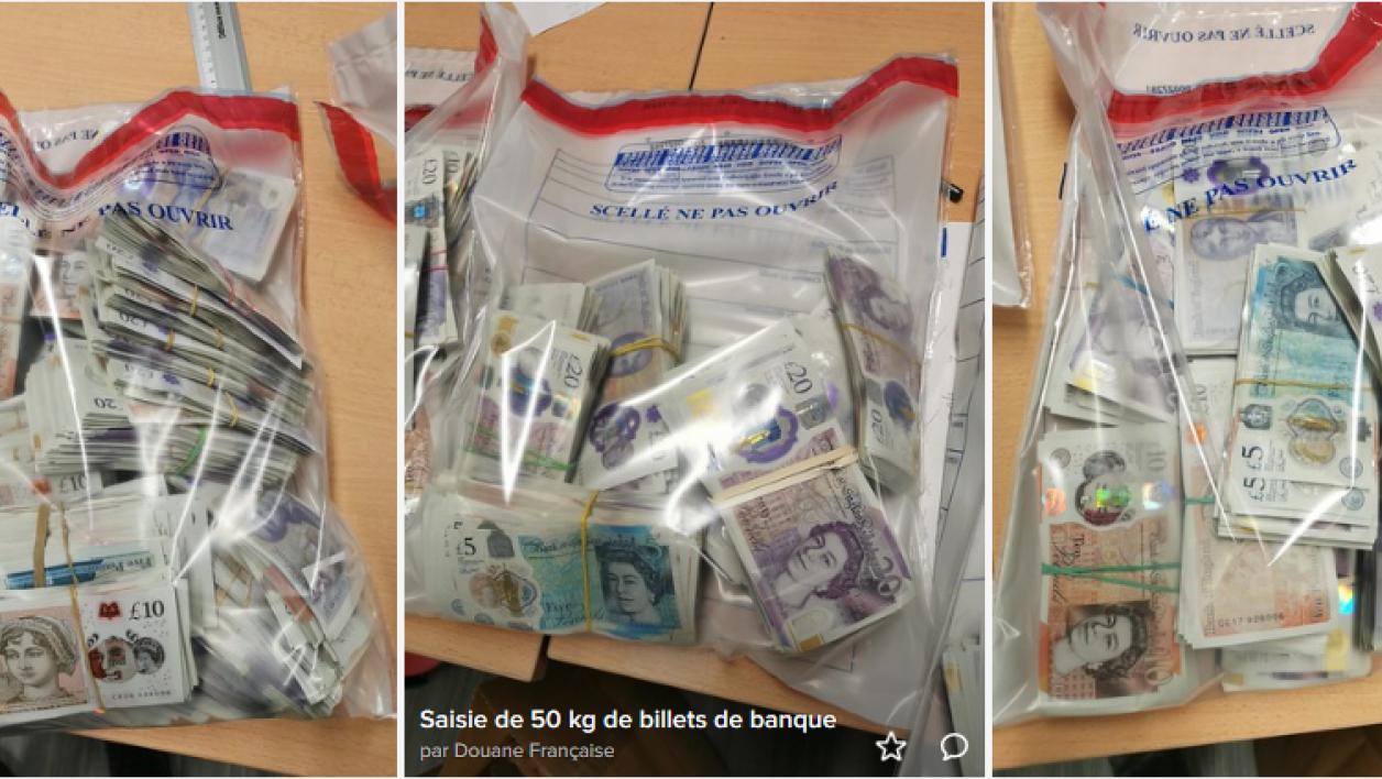 FRANCE: plus de 800.000 livres sterling saisies dans une voiture qui se rendait au Luxembourg