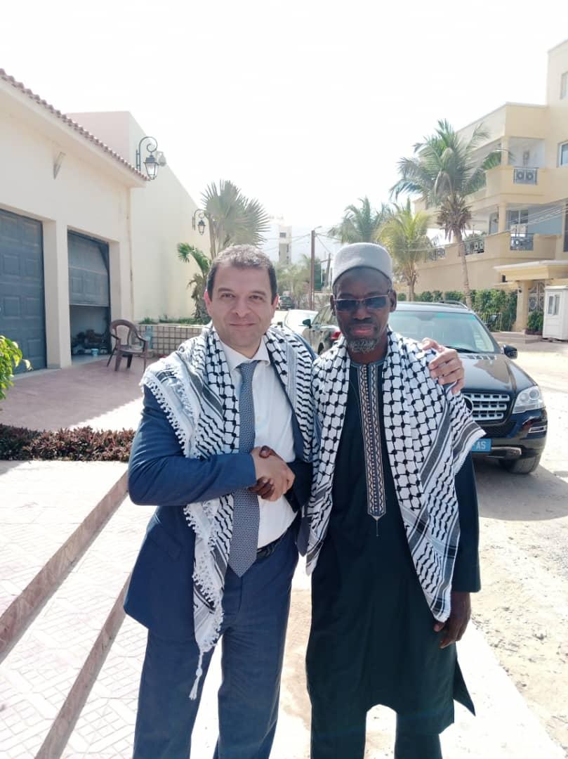 Dr Mohamed Sall, secrétaire général sortant du MRDS, ici en compagnie de l'ambassadeur de Palestine au Sénégal