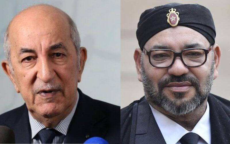 Le président algérien (g) et le Roi Mohamed 6