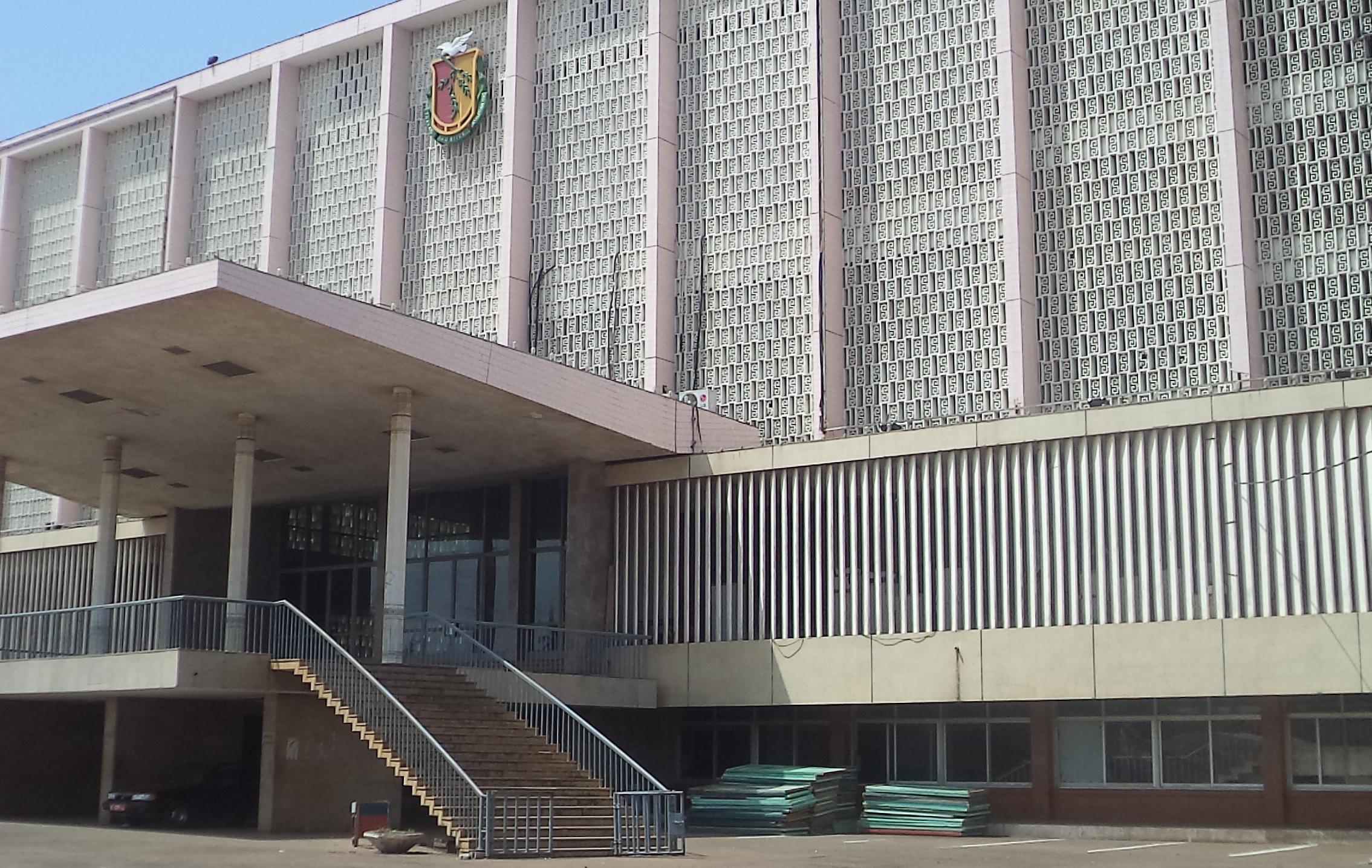 Le Palais du peuple à Conakry, siège des consultations de la junte avec les forces vives de Guinée