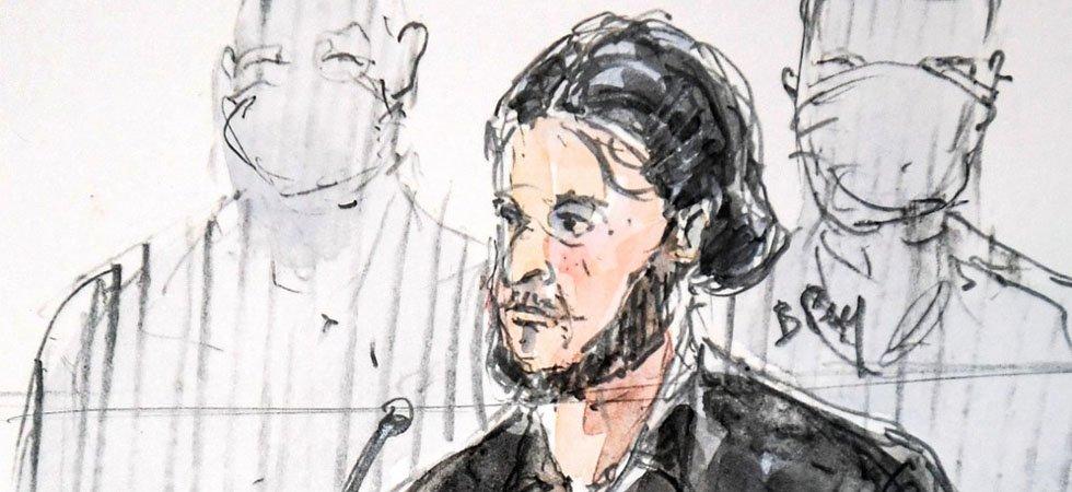 Salah Abdeslam au procès de Paris