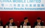 Le bénéfice de China Mobile stable en 2016 à 14,6 milliards d'euros