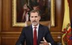 Le roi d'Espagne attaque durement les dirigeants catalans