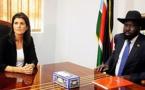 """Soudan du Sud: l'ambassadrice américaine à l'ONU """"déçue"""" par la situation"""