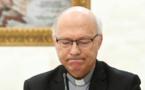 L'évêque chilien Luis Fernandez Ramos au cours d'une conférence de presse au Vatican (photo Libération)