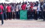 La manifestation des étudiants des universités dakaroises, aujourd'hui