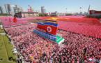 Célébration de 70e anniversaire de fondation de la RPD de Corée : La revue et le défilé civil de Pyongyang