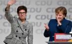 Allemagne: Annegret Kramp-Karrenbauer, successeur de Merkeel à la présidence de la CDU