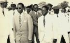 Mamadou Dia (g) et Leopold Sedar Senghor