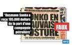 Le fact-checking Agence France Presse (AFP) : Non, Ousmane Sonko n'a pas reçu 195.000 dollars de la part d'une société pétrolière britannique