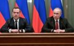 RUSSIE: Poutine annonce une réforme de la Constitution, le gouvernement Medvedev démissionne