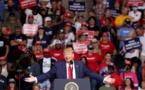 Trump relance sa campagne dans une salle loin d'être pleine
