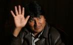 L'ancien Président Evo Morales dont le candidat Luis Arce serait favori du scrutin