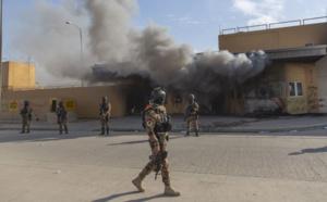 Roquette près de l'ambassade américaine à Bagdad
