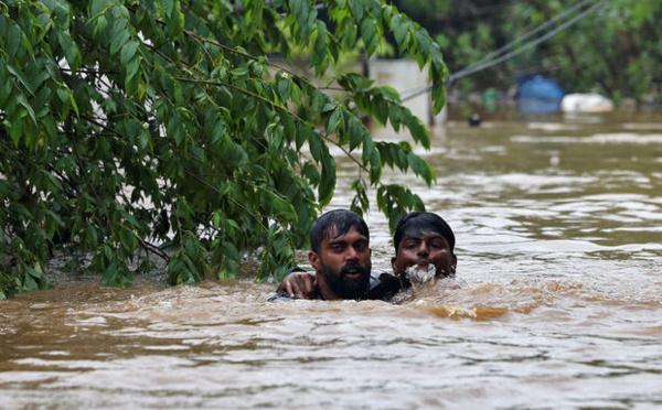 Inde : au moins 164 morts dans les inondations au Kerala